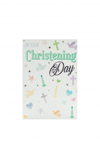On Your Christening Day Card, 6x8.5