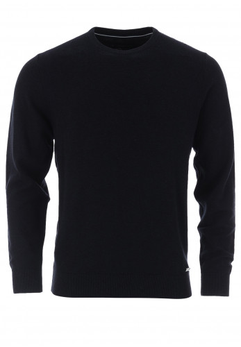 Casa Moda Cotton Mix Crew Neck Sweater, Navy