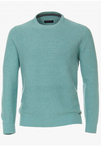 Casa Moda Round Neck Knitted Sweater, Turquoise