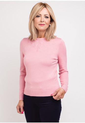 Castle of Ireland Woven Print Jumper, Pale Pink