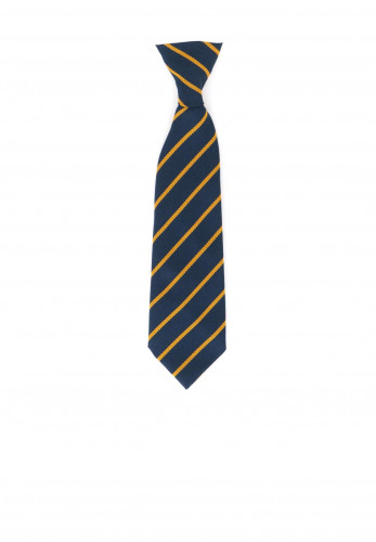 Elasticated Navy Stripe Kids School Tie