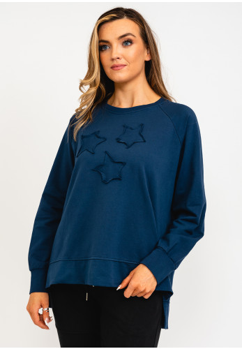 The Casual Company Frankie Star Applique Sweater, Navy