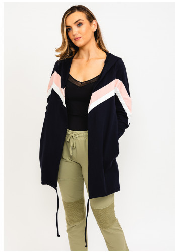 The Casual Company Madison Open Hooded Jacket, Navy Multi