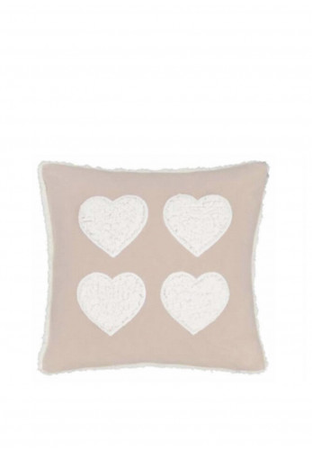 Catherine Lansfield Cosy Heart 43 x 43cm Cushion, Pink