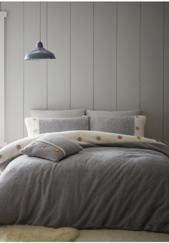 Catherine Lansfield So Soft Duvet Cover & Pillowcase Set, Grey