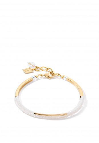 Coeur De Lion Waterfall Bracelet, Gold & White