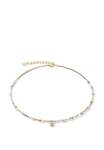 Coeur De Lion Sphere Gemstones Necklace, Blue & Gold