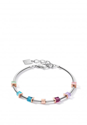 Coeur De Lion Geo Cube Bracelet, Multi Coloured