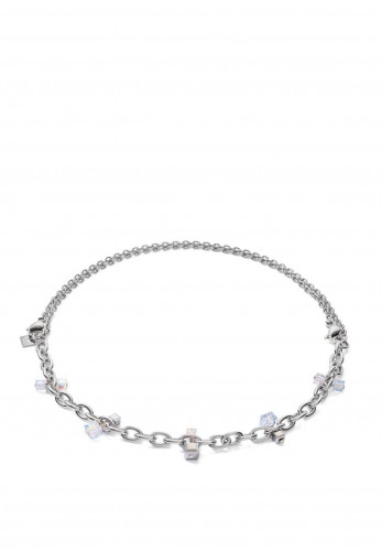 Coeur De Lion Geo Casual & Chunky Chain Necklace, Silver