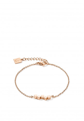 Coeur De Lion Small Dancing Geo Cube Bracelet, Rose Gold