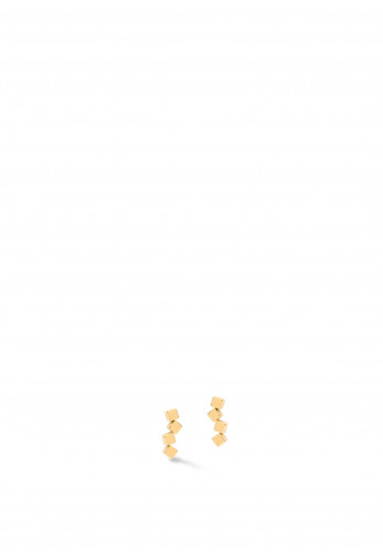 Coeur De Lion Dancing Geo Cube Earrings, Gold