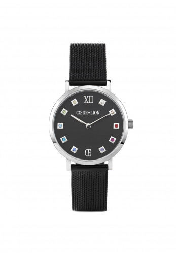 Coeur De Lion Midnight Black Milanese Stainless Steel Watch