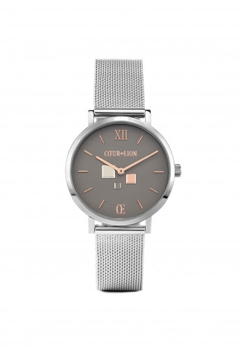 Coeur De Lion Cool Grey Milanese Stainless Steel Watch