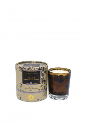 Celtic Candles Organic Natural Wax Candle, Relax