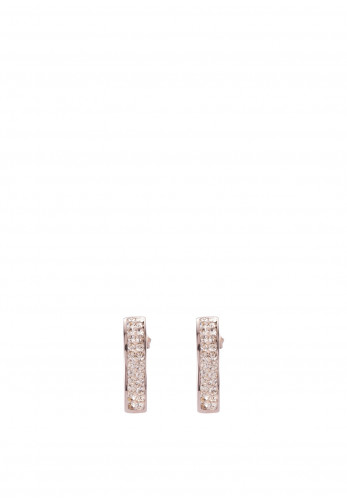 Ceour De Lion Pave Crystal Earrings, Rose Gold