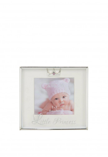"Widdop Bingham 3"" x 3"" Silver Plated Box Frame, Little Princess"