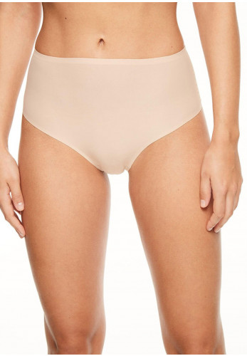 Chantelle One Size Soft Stretch High Waist Thong, Nude