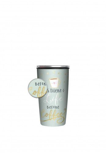 Chic Mic Slide Bamboo Cup Deluxe 430ml, Life Before Coffee