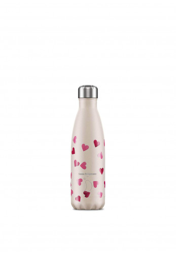 Chilly's Emma Bridgewater 500ml Reusable Bottle, Pink Hearts
