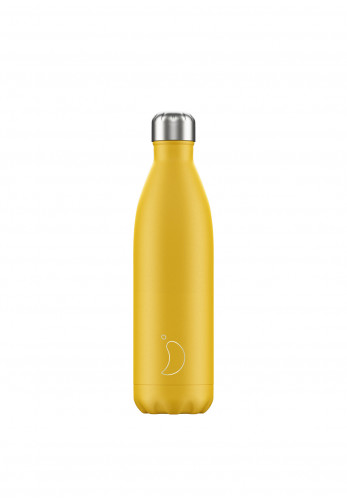 Chilly's Matte Edition 750ml Reusable Bottle, Burnt Yellow
