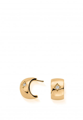 Chlobo Drop of Hope Huggie Hoop Earrings, Gold