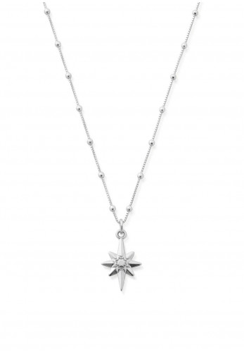 ChloBo Bobble Chain Lucky Star Necklace, Silver