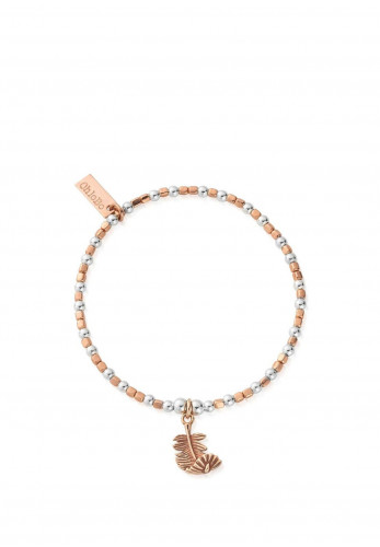 ChloBo Curved Feather Bracelet, Rose Gold and Silver