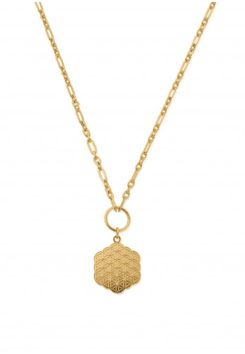 Chlobo Flower of Life Necklace, Gold