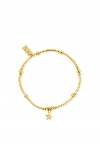 RBMNB80 Chlobo Mini Noodle Ball Star Bracelet, Gold