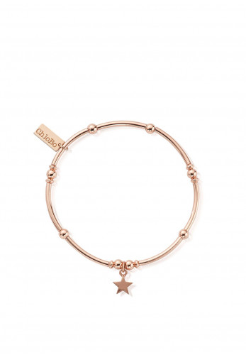 Chlobo Mini Noodle Ball Star Bracelet, Rose Gold