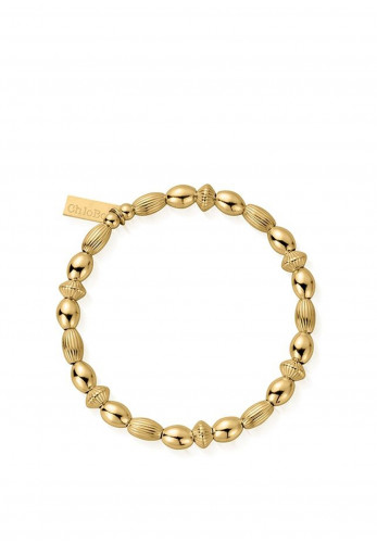 ChloBo Mini Oval Disc Bracelet, Gold