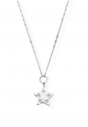Chlobo Quinary Star Necklace, Silver