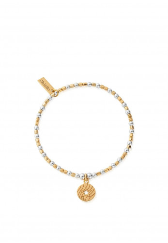 ChloBo Open Star In Circle Bracelet, Gold and Silver