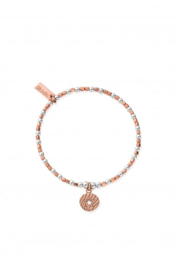 ChloBo Open Star In Circle Bracelet, Rose Gold and Silver