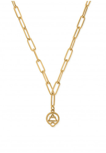 Chlobo Link Chain Air Necklace, Gold