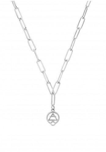 Chlobo Link Chain Air Necklace, Silver