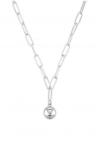 Chlobo Link Chain Earth Necklace, Silver