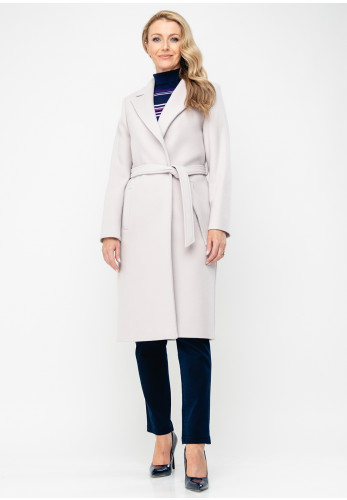 Christina Felix Wool Rich Belted Coat, Beige