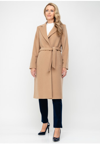 Christina Felix Wool Rich Belted Coat, Camel