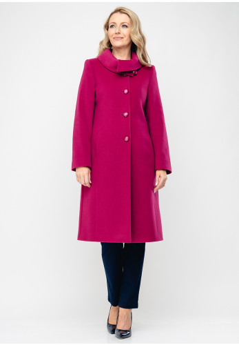 Christina Felix Shawl Collar Wool & Cashmere Coat, Deep Pink