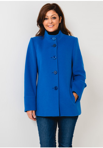 Christina Felix Wool Rich Short Coat, Blue