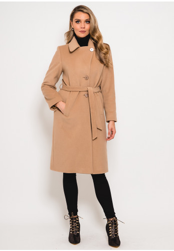 Christina Felix Wool & Cashmere Belted Coat, Camel