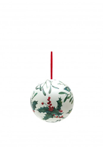 Ideal Home Range Mistletoe Bauble Case, Cream