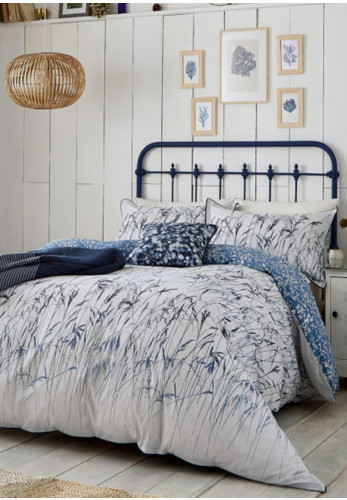Clarissa Hulse Blowing Grasses Duvet Cover, Blue