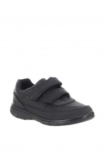 Clarks Boys Venture Walk School Shoes, Black