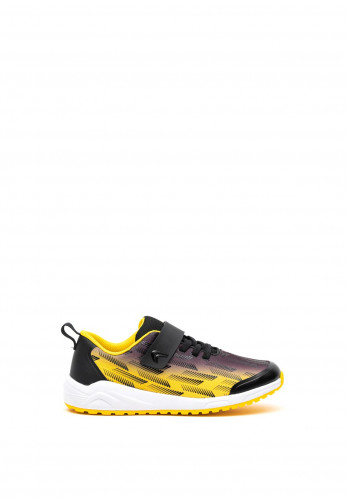 Clarks Boys Aeon Pace Velcro Strap Trainers, Yellow & Black