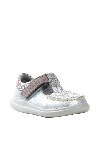 Clarks Baby Girls Cloud Rosa Shoes, Silver