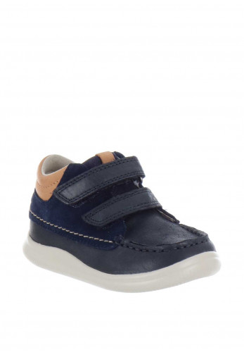 Clarks Boys Comet Moon Leather Boots, Navy