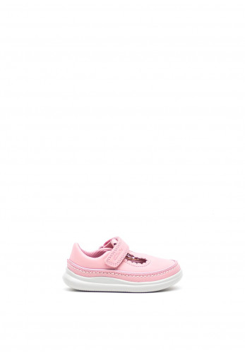 Clarks Baby Girls Crest Sky Leather Shoes, Pink