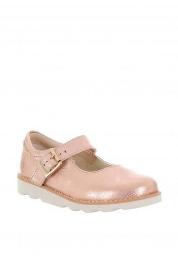Clarks Baby Girls Crown Honor First Shoes, Pink
